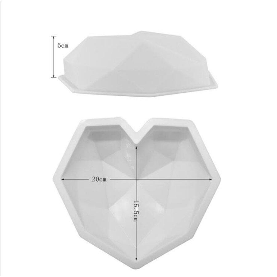 Geometrische smash hart Mould xl-1