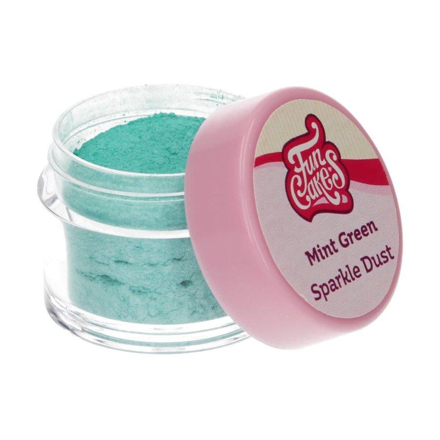 FunCakes Edible FunColours Sparkle Dust - Mint Green-2