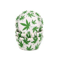 House of Marie Baking Cups Marijuana pk/50