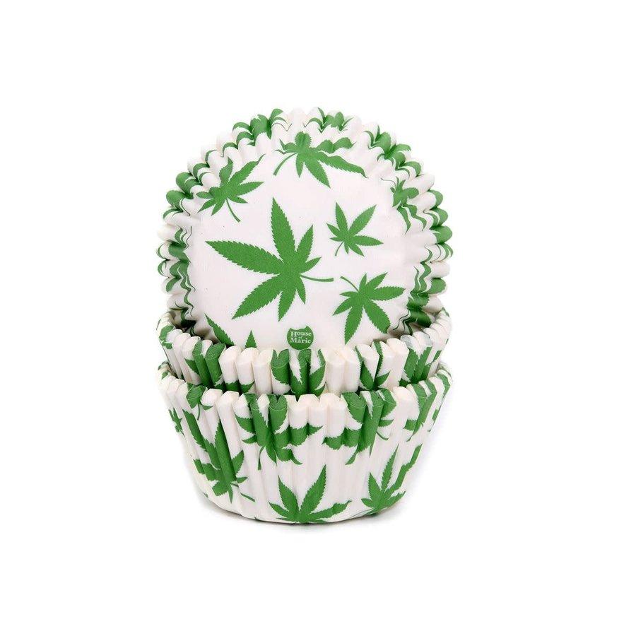 House of Marie Baking Cups Marijuana pk/50-1