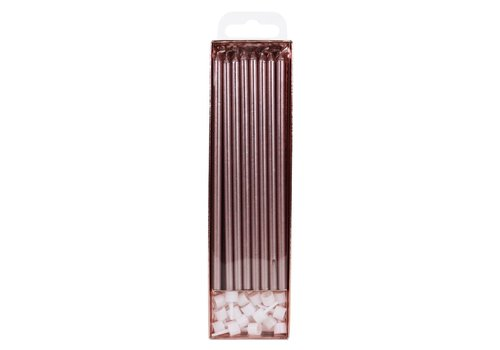 PME Extra Tall Candles Rose Gold 18cm pk/16