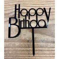 thumb-Happy birthday topper future black-2