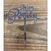 Happy birthday topper small zilver