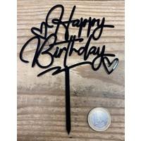 thumb-happy birthday topper zwart love-2