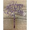 happy birthday topper rose love