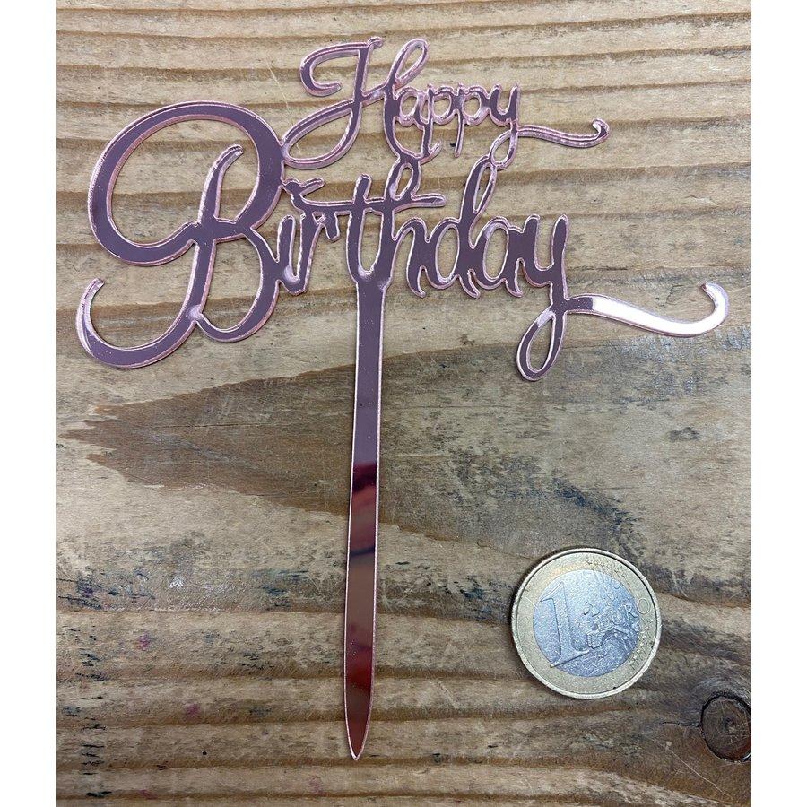 Happy birthday topper small rose-2
