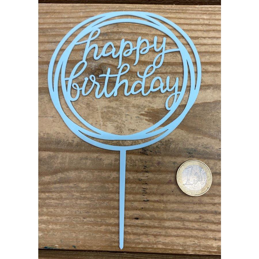 happy birthday topper rond licht blauw-2