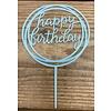 happy birthday topper rond licht blauw