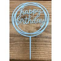 thumb-happy birthday topper rond licht blauw-1