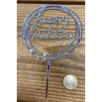 thumb-happy birthday topper rond zilver-2