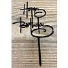 happy birthday topper script zwart