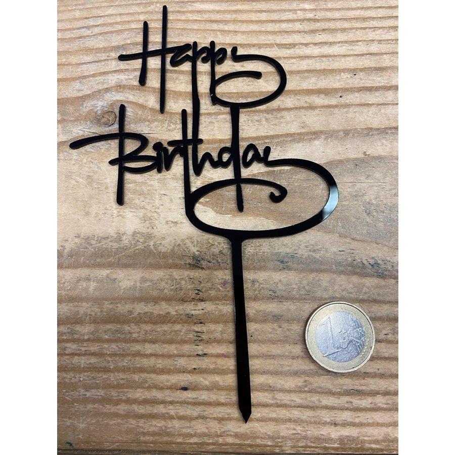 happy birthday topper script zwart-2