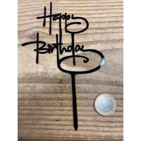 thumb-happy birthday topper script zwart-6