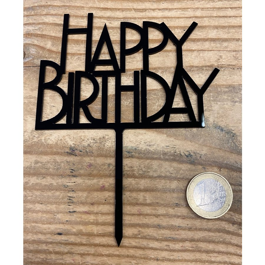happy birthday topper bold zwart-1