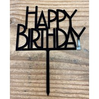 thumb-happy birthday topper bold zwart-2