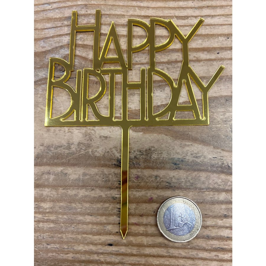 Happy birthday topper bold goud-1