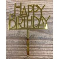 thumb-Happy birthday topper bold goud-2