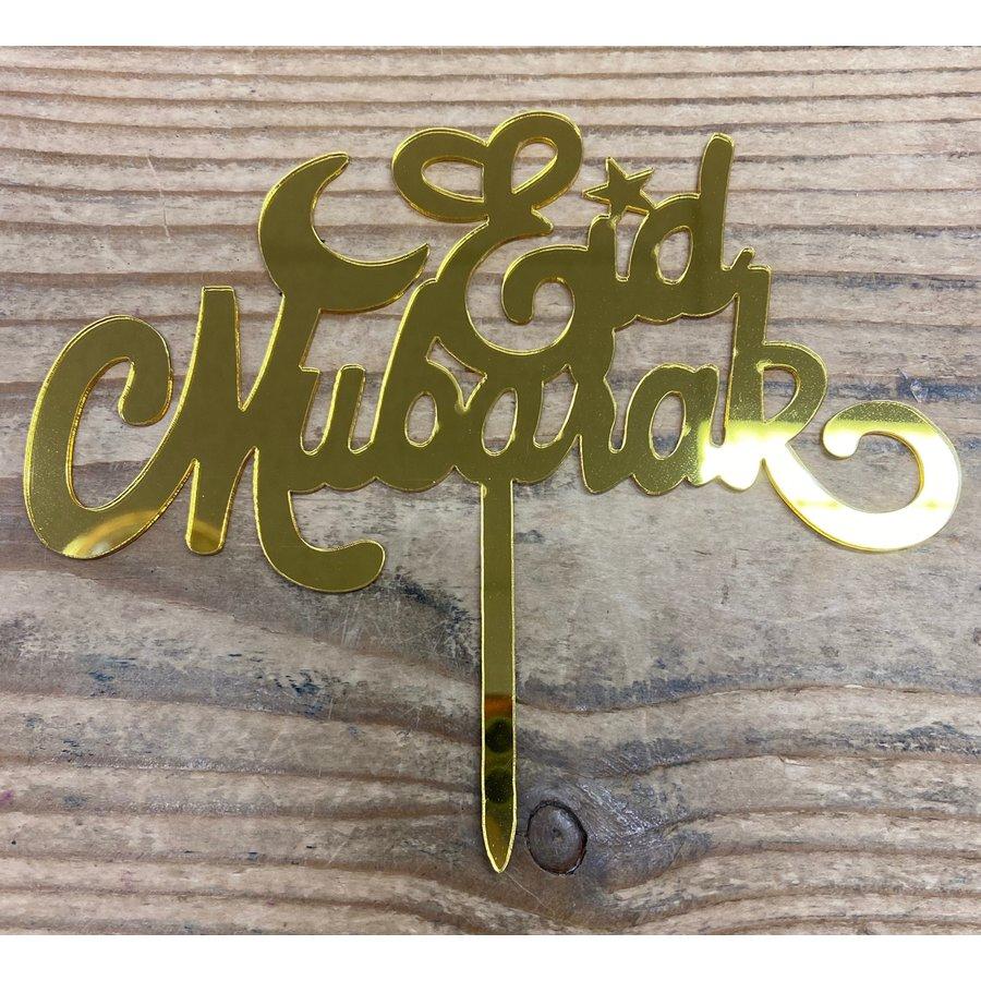 Eid Mubarak topper goud-1