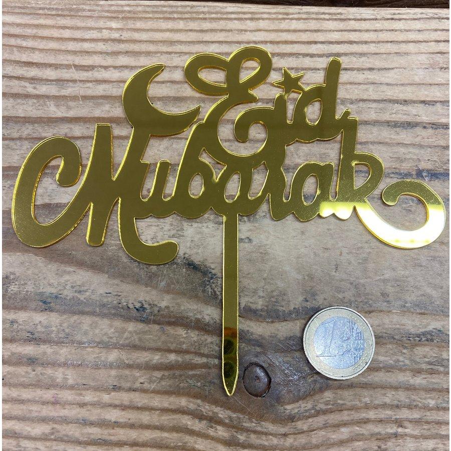 Eid Mubarak topper goud-2