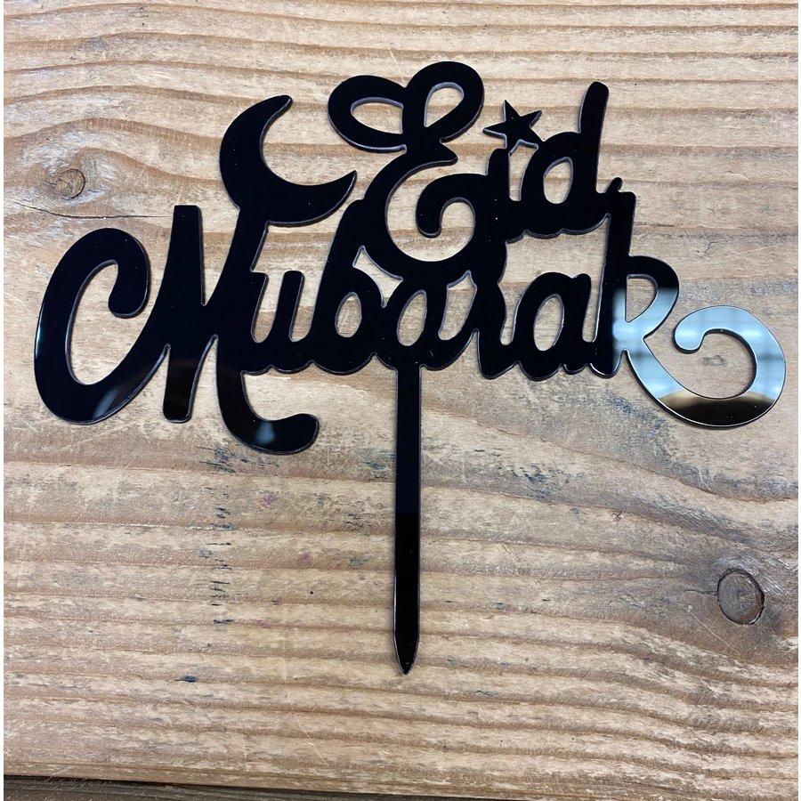 Eid Mubarak topper zwart-2
