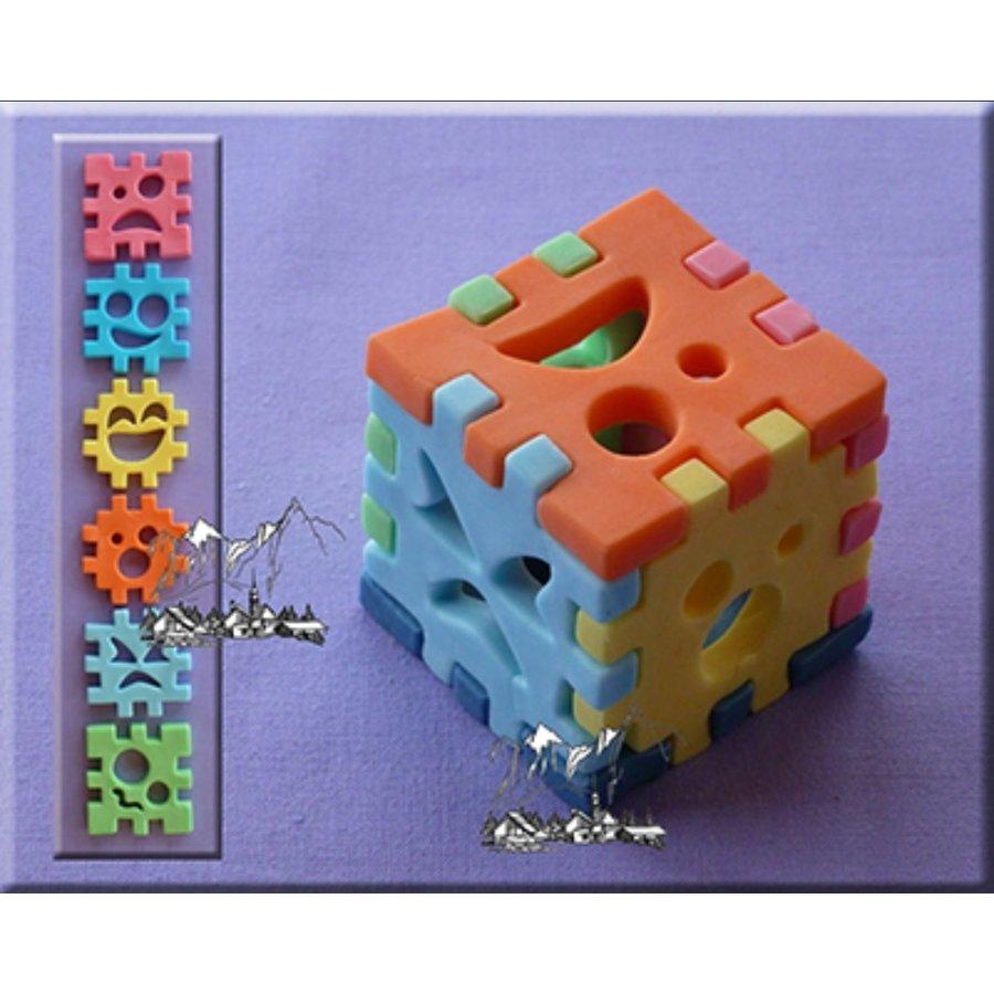 Alphabeth Moulds 3D cube set AM0137-2