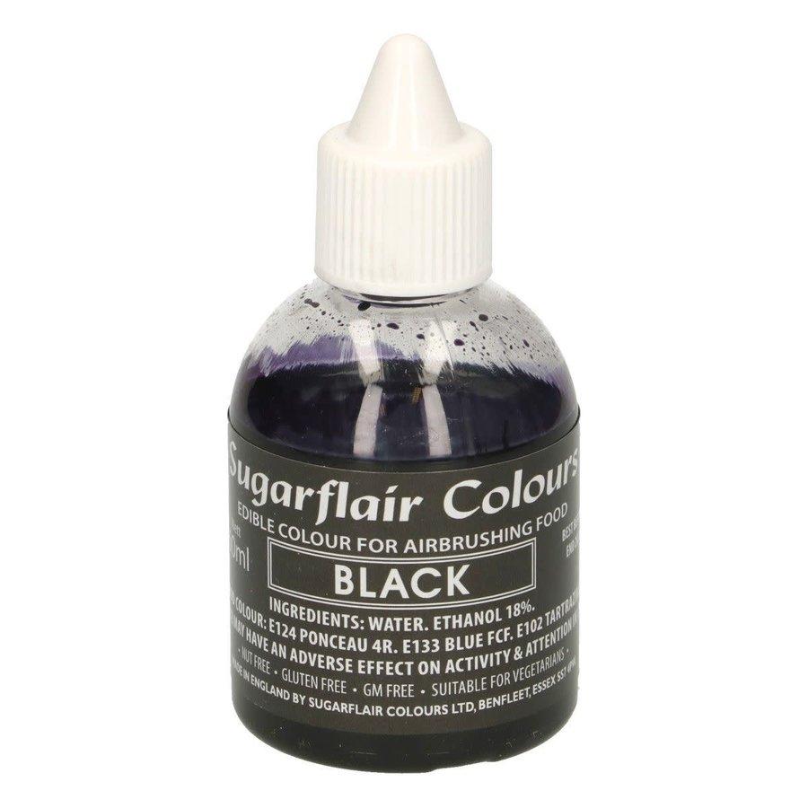 Sugarflair Airbrush Colouring -Black- 60ml-1