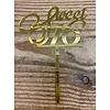 Sweet 16 acryl sierlijk goud