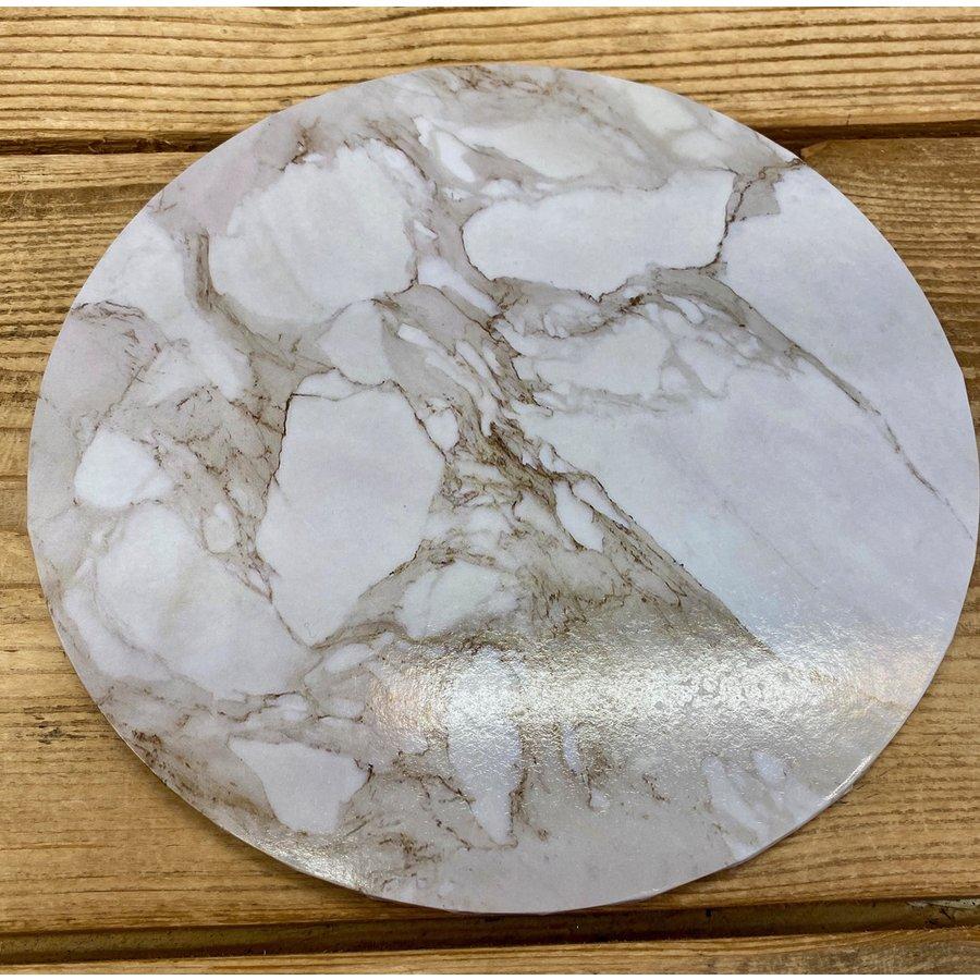 cakeboard extra stevig marble wit 25cm-1