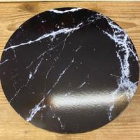 cakeboard extra stevig marble zwart 30cm