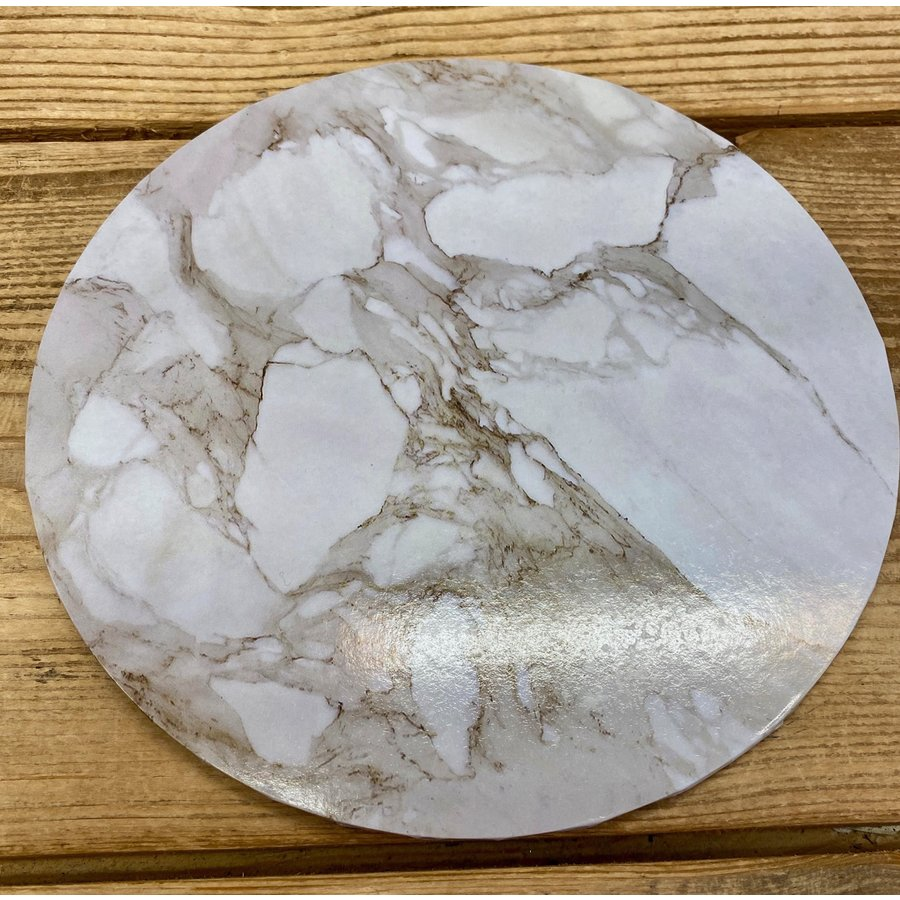 cakeboard extra stevig marble wit 30cm-1