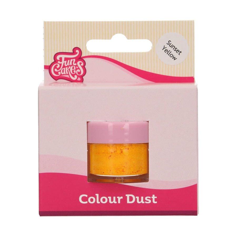 FunCakes Edible FunColours Dust - Sunset Yellow-1