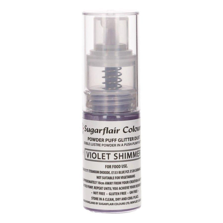 Sugarflair Pump Spray Glitter Dust -Violet Shimmer--1