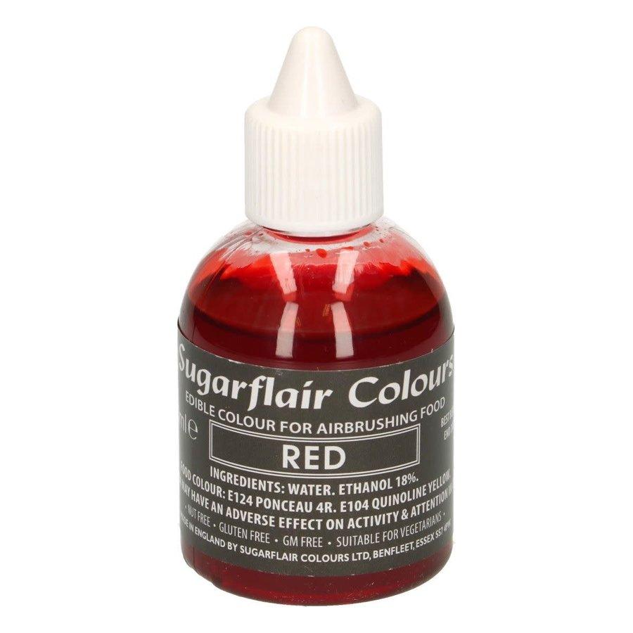 Sugarflair Airbrush Colouring -Red- 60ml-1