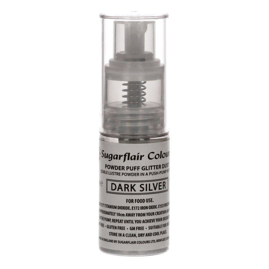 Sugarflair Pump Spray Glitter Dust -Dark Silver--1