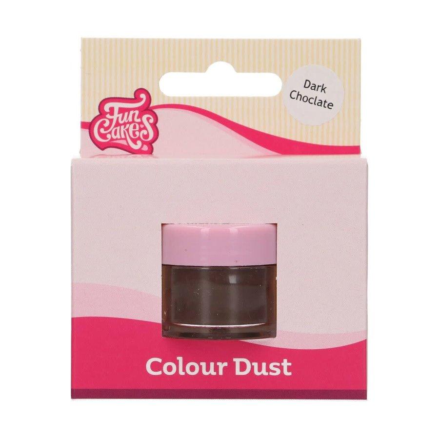 FunCakes Edible FunColours Dust - Dark Chocolate-1