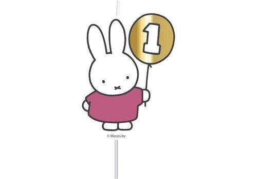 "Cijferkaars ""1"" Nijntje First Birthday Roze"