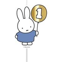 """Cijferkaars """"1"""" Nijntje First Birthday blauw"""