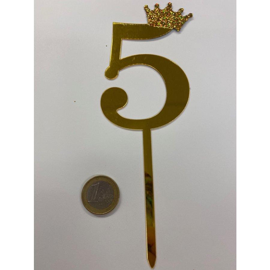 acryl prikker cijfer 5-1