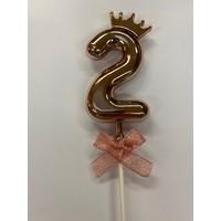 thumb-Cake topper ballon 2 roze-1