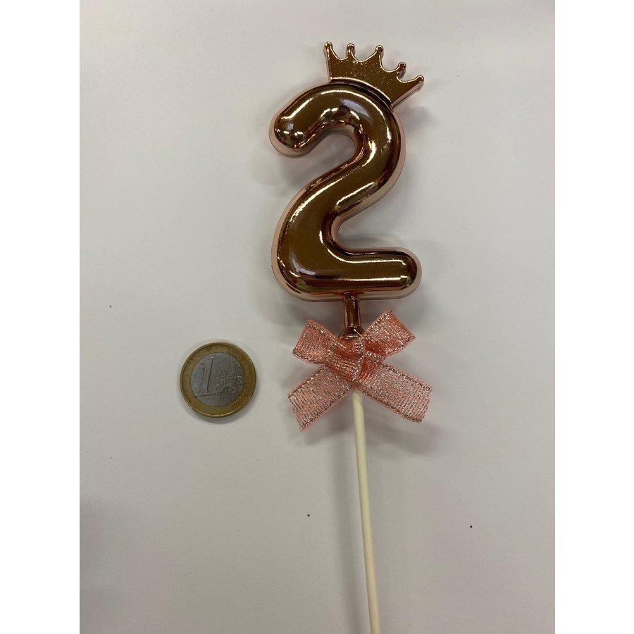 Cake topper ballon 2 roze-2