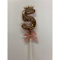 thumb-Cake topper ballon 5 roze-1