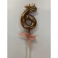 thumb-Cake topper ballon 6 roze-3