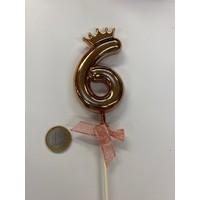 thumb-Cake topper ballon 6 roze-4