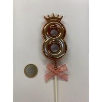 thumb-Cake topper ballon 8 roze-2