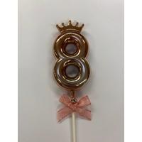 thumb-Cake topper ballon 8 roze-1