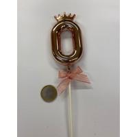 thumb-Cake topper ballon 0 roze-2