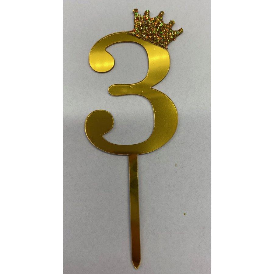 Acryl prikker #3 goud klein-1