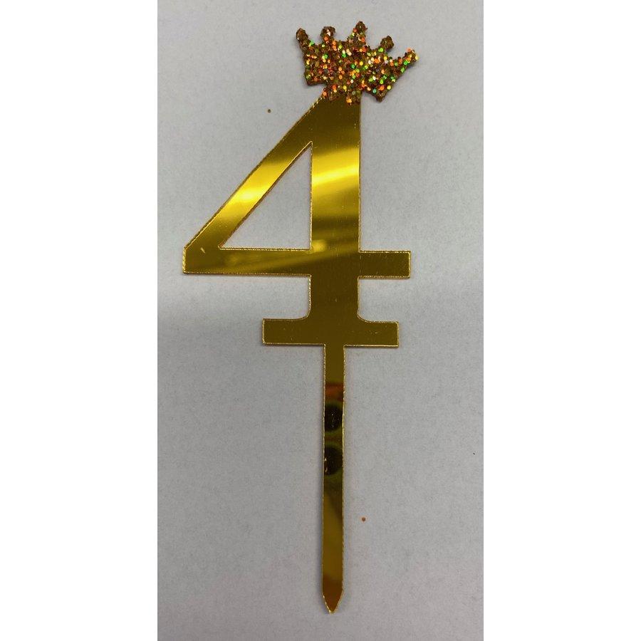 Acryl prikker #4 goud klein-1