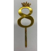 thumb-Acryl prikker #8 goud klein-1