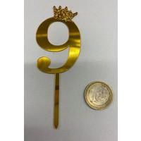 thumb-Acryl prikker #9 goud klein-2